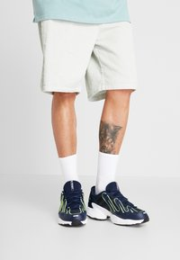 adidas Originals - EQT GAZELLE - Trainers - collegiate navy/core black/solar yellow - 0