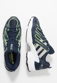 adidas Originals - EQT GAZELLE - Trainers - collegiate navy/core black/solar yellow