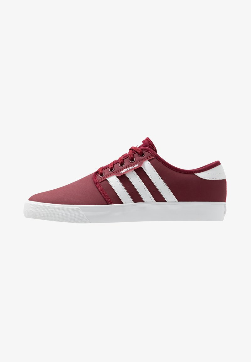 adidas Originals - SEELEY - Baskets basses - collegiate burgundy/footwear white