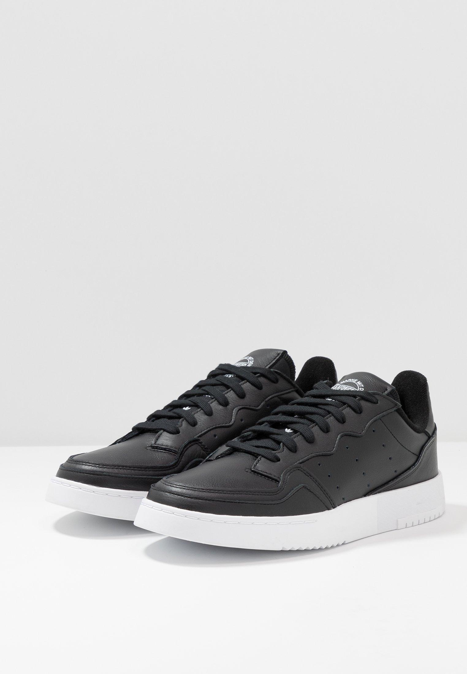 adidas Originals SUPERCOURT - Sneakers basse - cblack/cblack/ftwwht