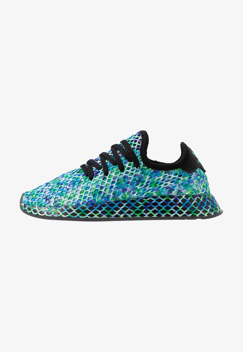adidas Originals - DEERUPT RUNNER - Trainers - core black/hi-res aqua