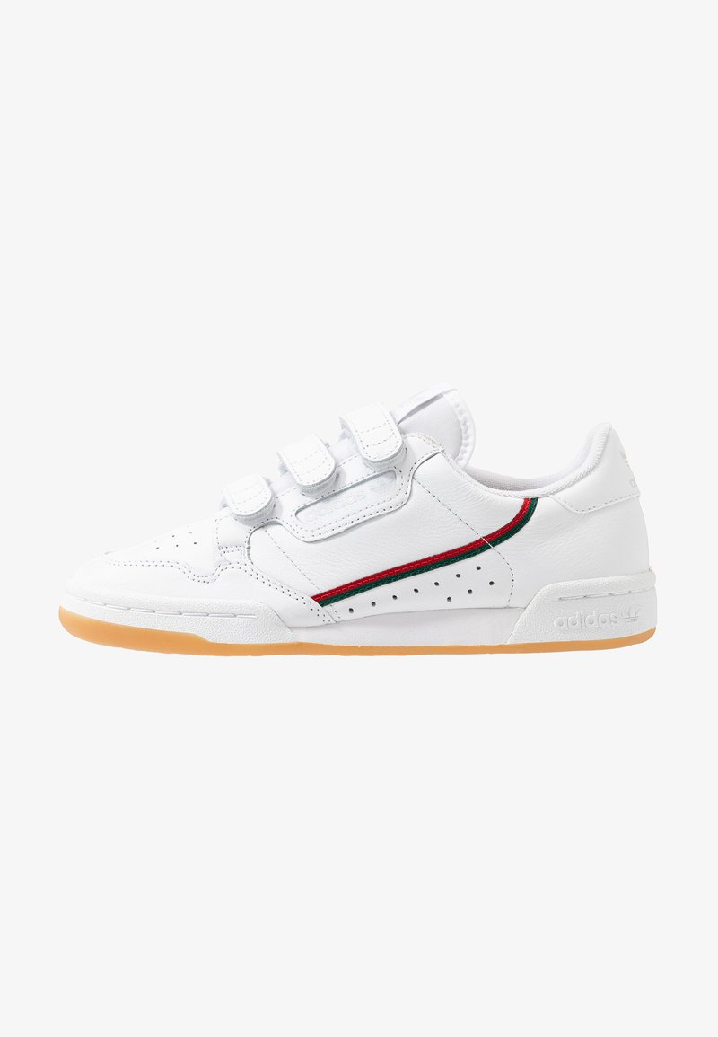 adidas Originals - CONTINENTAL 80 STRAP - Baskets basses - footwear white/clear green/scarlet