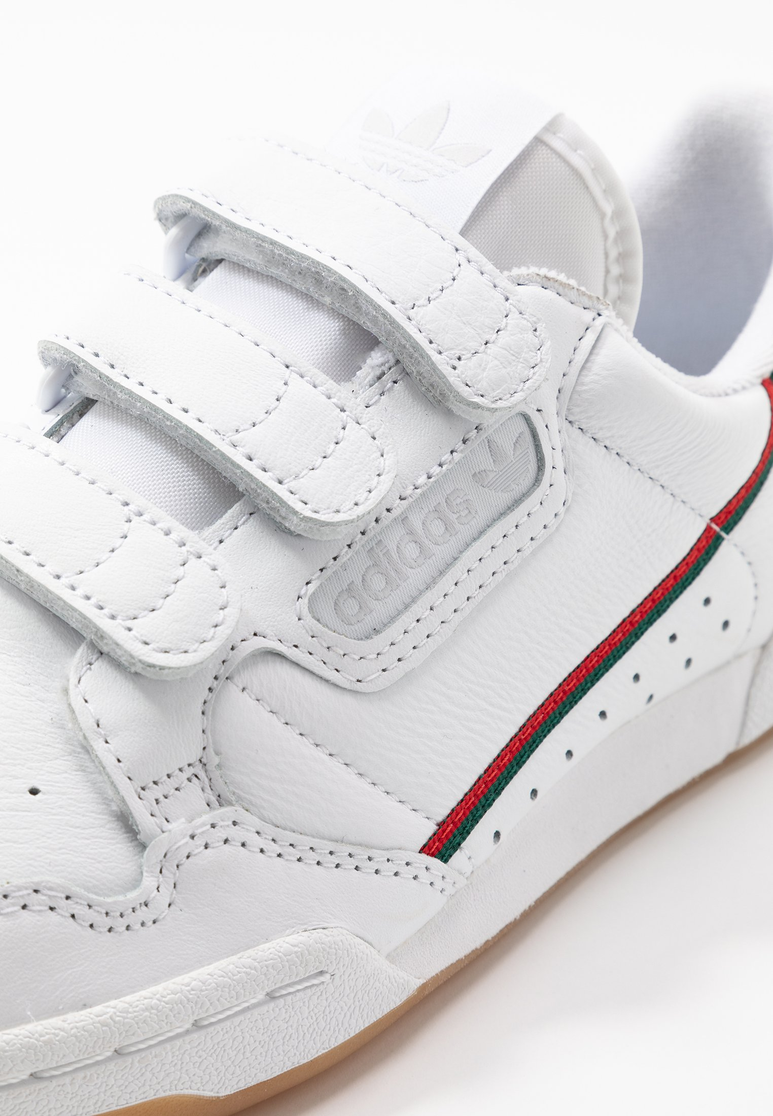 Adidas Originals Continental 80 Strap - Sneakers Basse Footwear White/clear Green/scarlet Scarpe Scontate