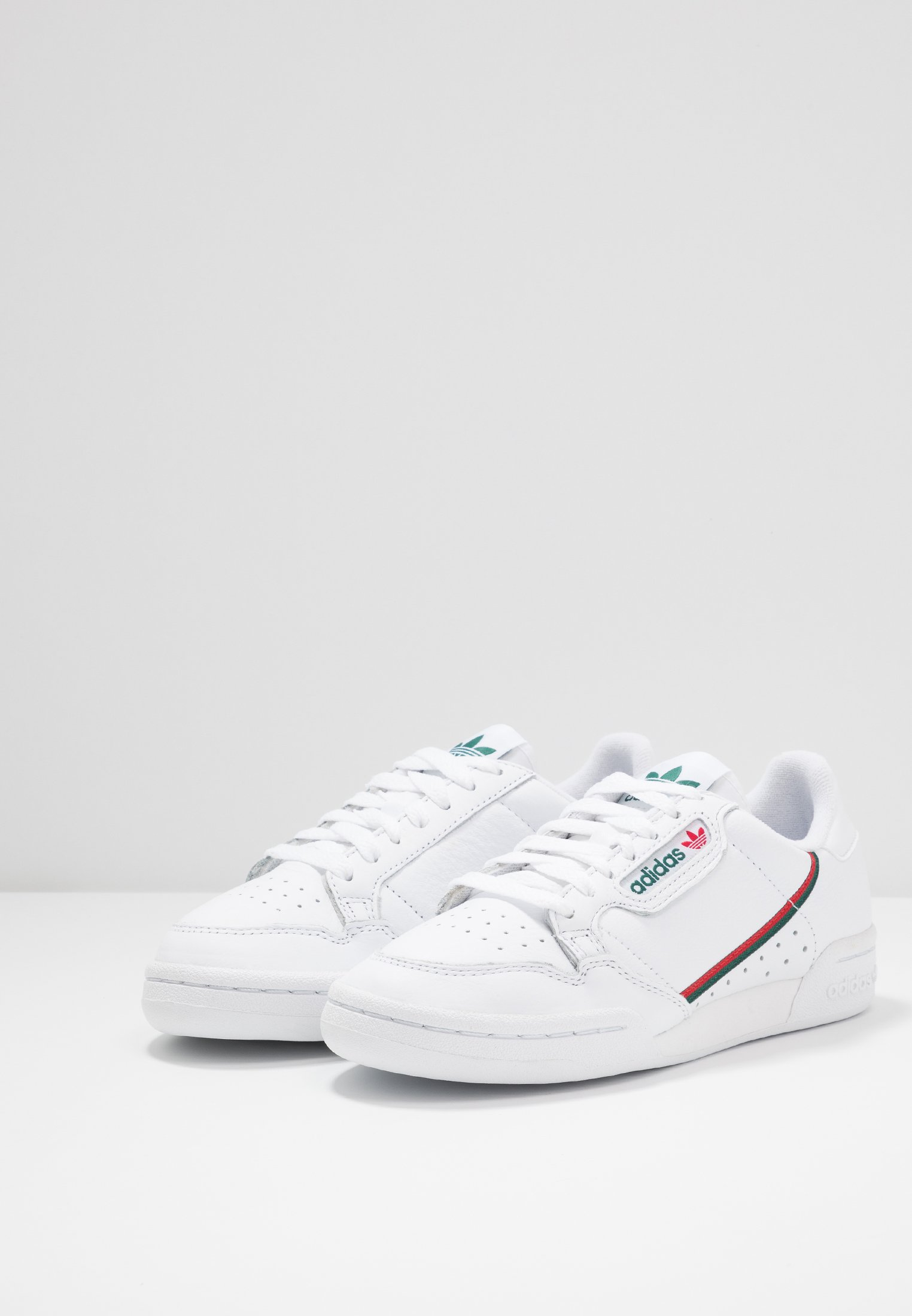 adidas Originals CONTINENTAL 80 - Baskets basses footwear white/collegiate green/scarlet
