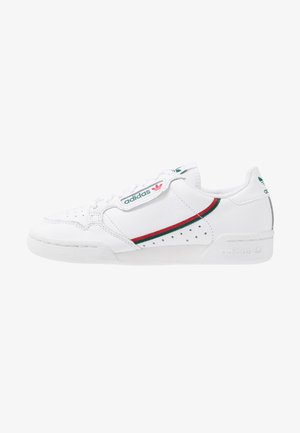 CONTINENTAL 80 - Matalavartiset tennarit - footwear white/collegiate green/scarlet