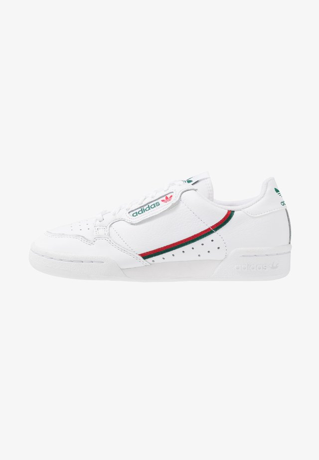 CONTINENTAL 80 - Baskets basses - footwear white/collegiate green/scarlet