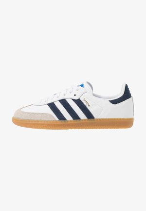 SAMBA FOOTBALL - Sneaker low - footwear white/collegiate navy/blue