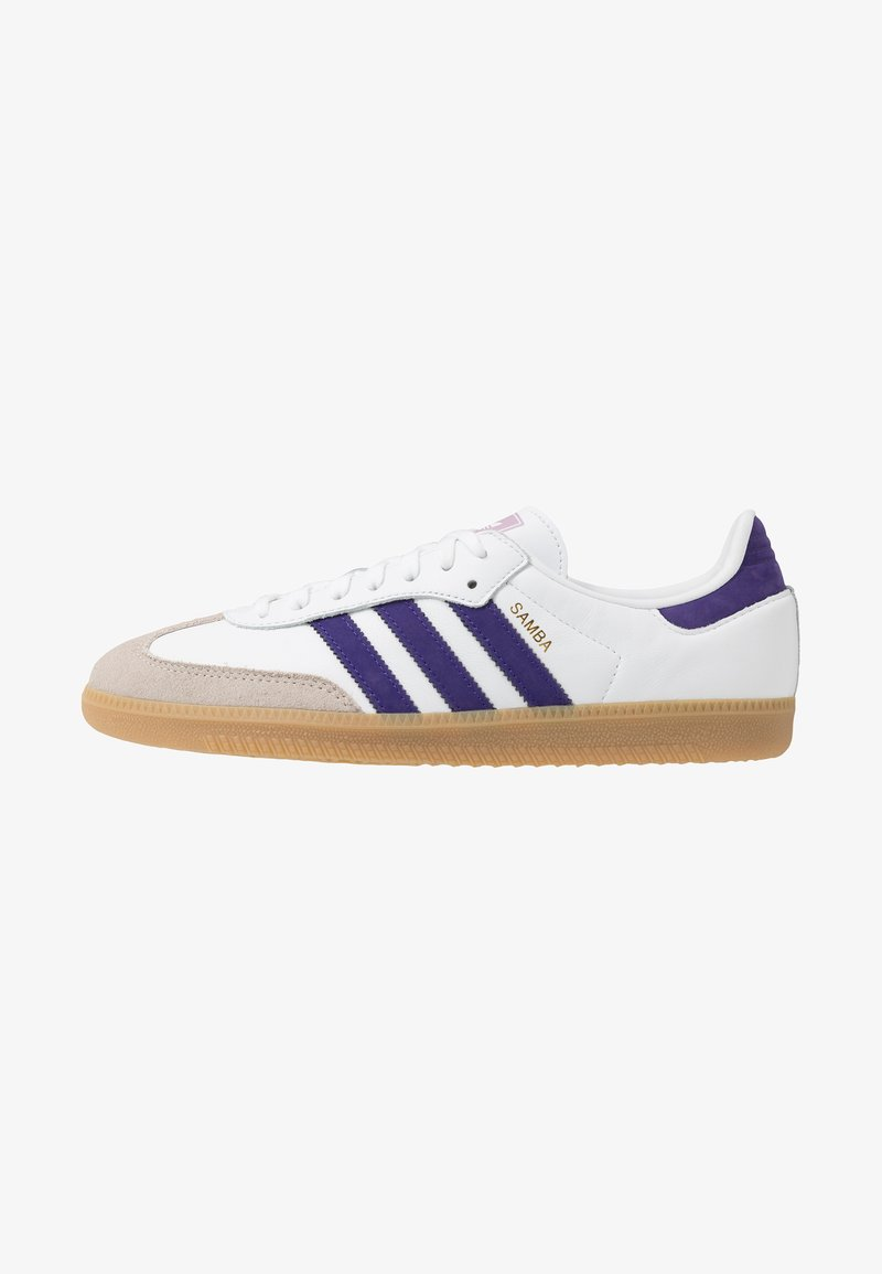 adidas Originals - SAMBA FOOTBALL-STYLE SHOES - Trainers - footwear white/collegiate purple/soft vision