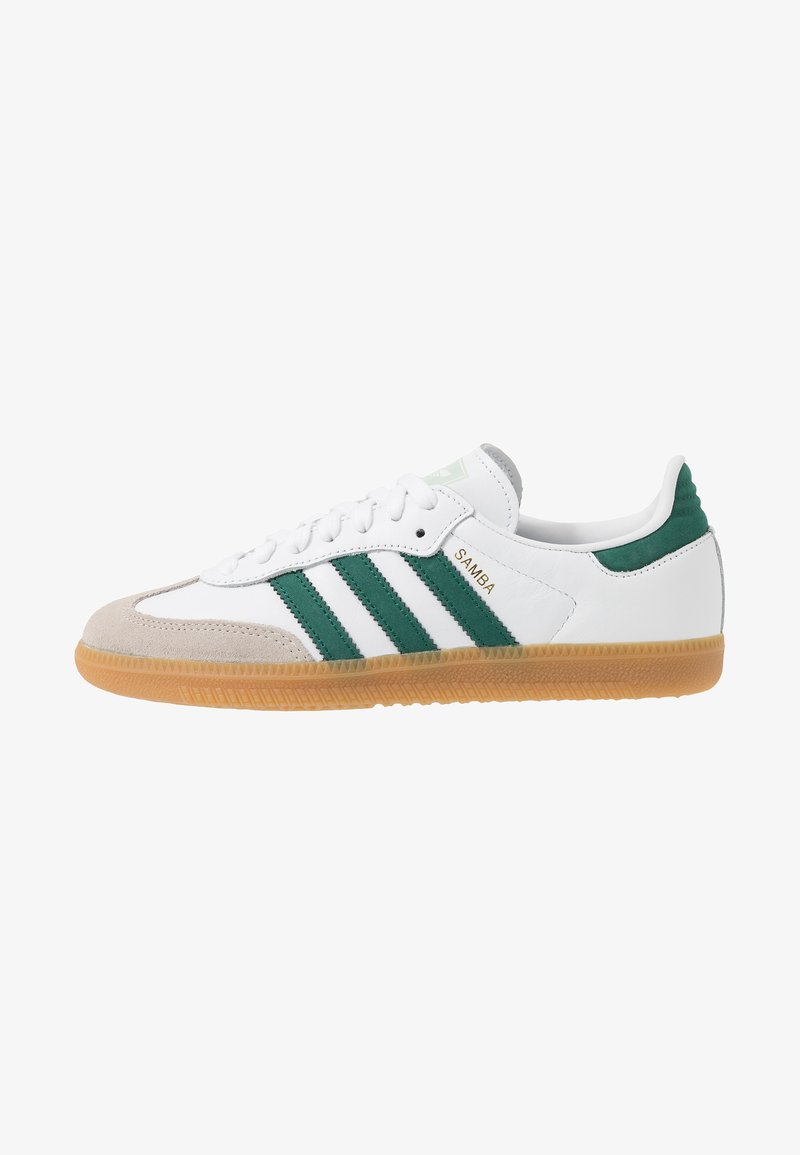 adidas Originals - SAMBA FOOTBALL-STYLE SHOES - Sneakers laag - footwear white/collegiate green/vapour green