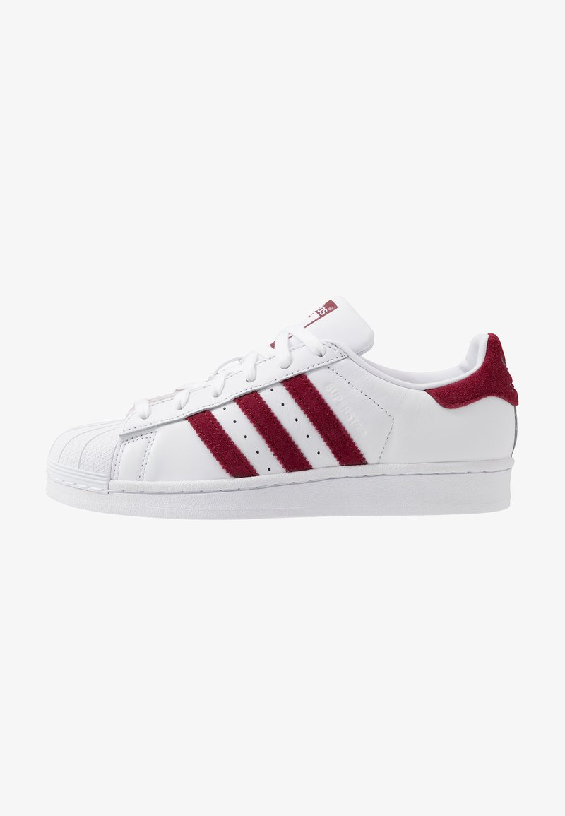 adidas Originals - SUPERSTAR - Baskets basses - footwear white/collegiate burgundy