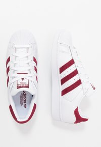 adidas Originals - SUPERSTAR - Sneaker low - footwear white/collegiate burgundy - 1