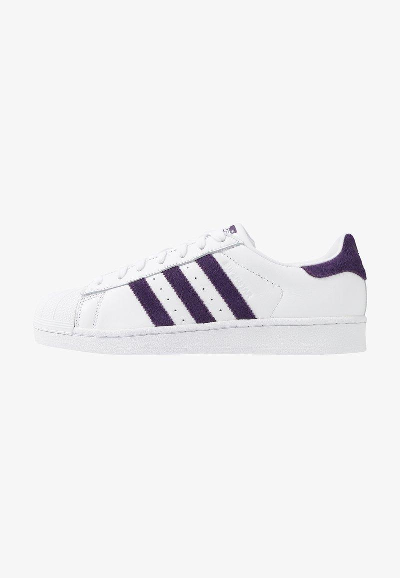 adidas Originals - SUPERSTAR - Sneakersy niskie - footwear white/legend purple
