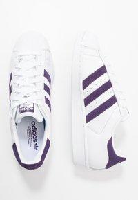 adidas Originals - SUPERSTAR - Sneakersy niskie - footwear white/legend purple - 1