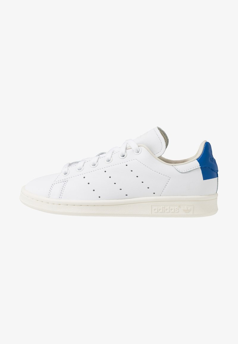 adidas Originals - STAN SMITH HEEL PATCH SHOES - Baskets basses - footwear white/collegiate royal/offwhite
