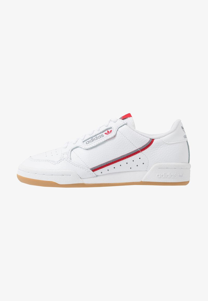 adidas Originals - CONTINENTAL 80 SKATEBOARD SHOES - Sneaker low - footwear white/grey three/scarlet