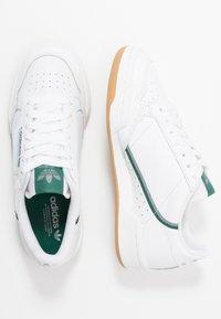 adidas Originals - CONTINENTAL 80 SKATEBOARD SHOES - Baskets basses - footwear white/grey three/collegiate green - 1