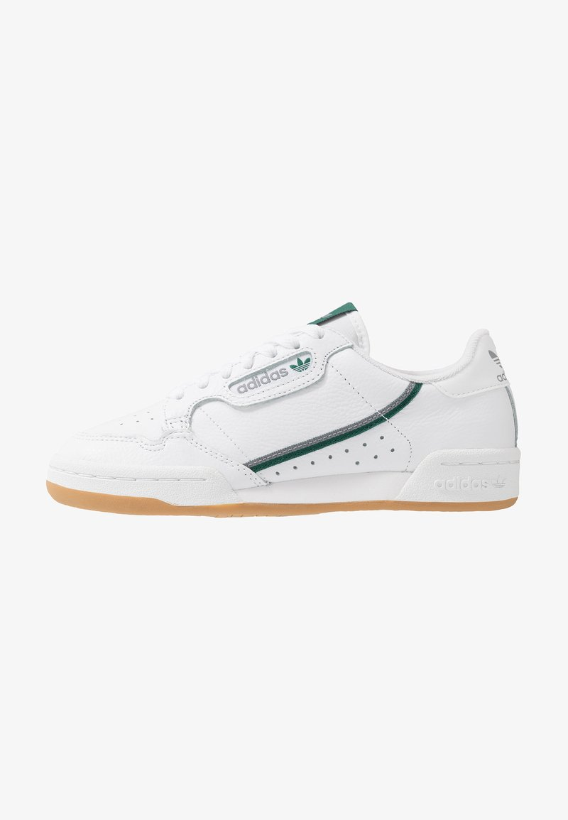 adidas Originals - CONTINENTAL 80 SKATEBOARD SHOES - Trainers - footwear white/grey three/collegiate green