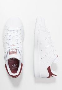 adidas Originals - STAN SMITH - Joggesko - footwear white/collegiate burgundy - 1