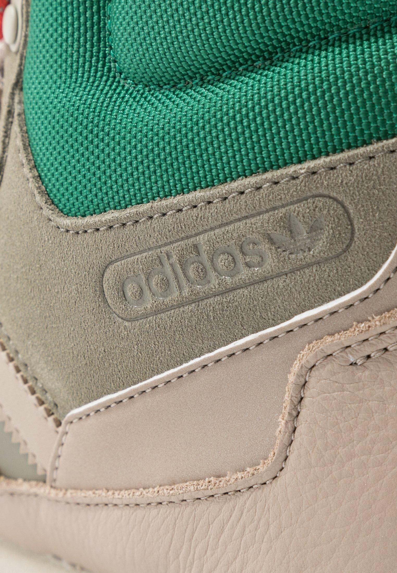 Adidas Originals Baara - Sneakers Hoog Trace Khaki/trace Carbon/core Black Goedkope Schoenen