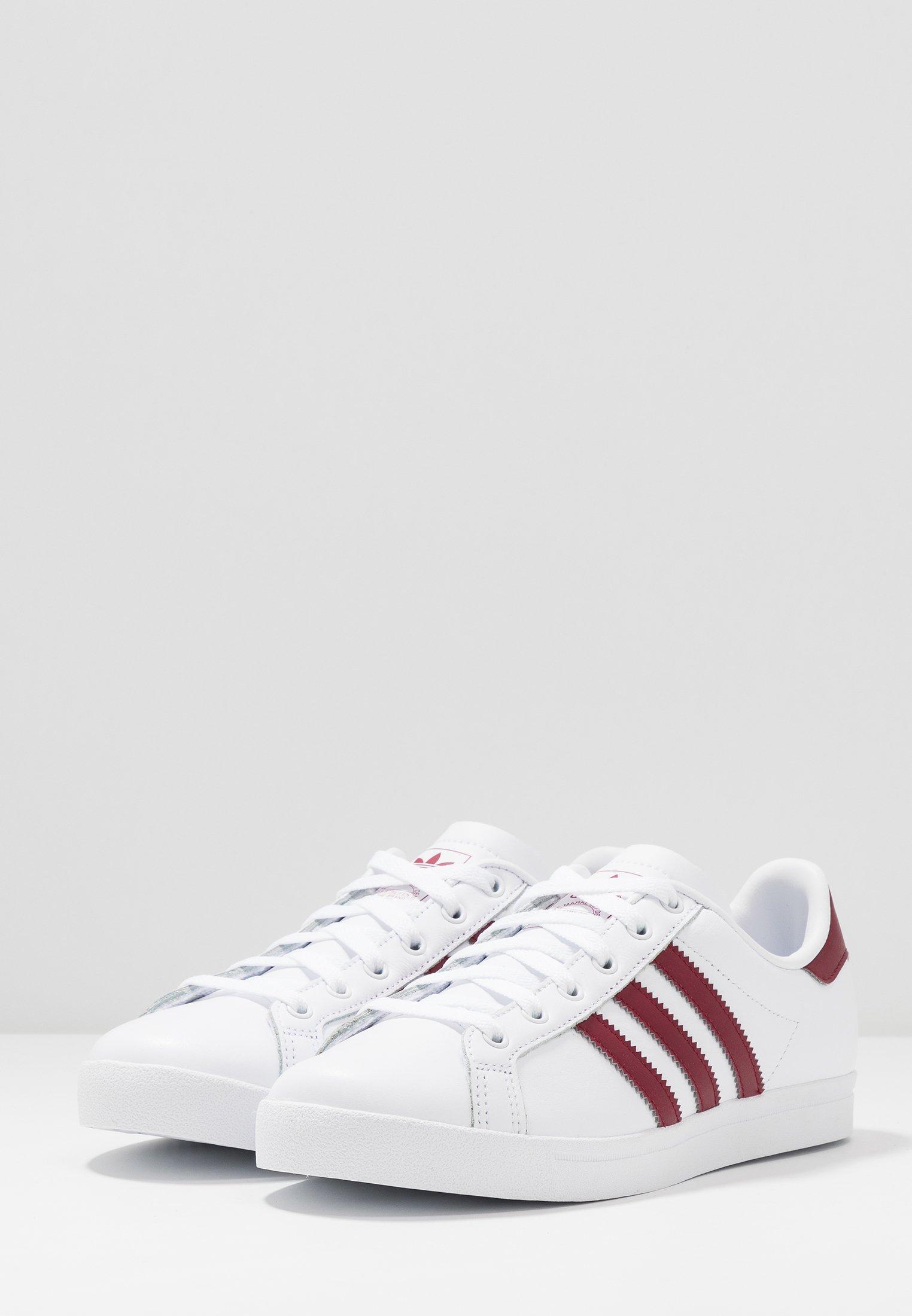 adidas Originals COAST STAR - Baskets basses footwear white/collegiate burgundy