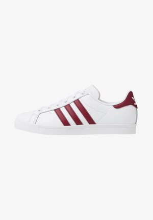 COAST STAR - Sneakersy niskie - footwear white/collegiate burgundy