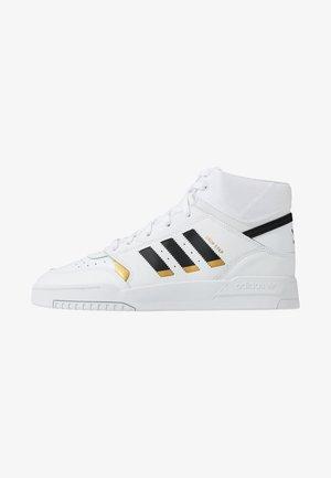 DROP STEP - Sneakers hoog - footwear white/core black/gold metallic