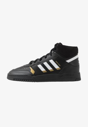 DROP STEP - Korkeavartiset tennarit - core black/footwear white/gold metallic