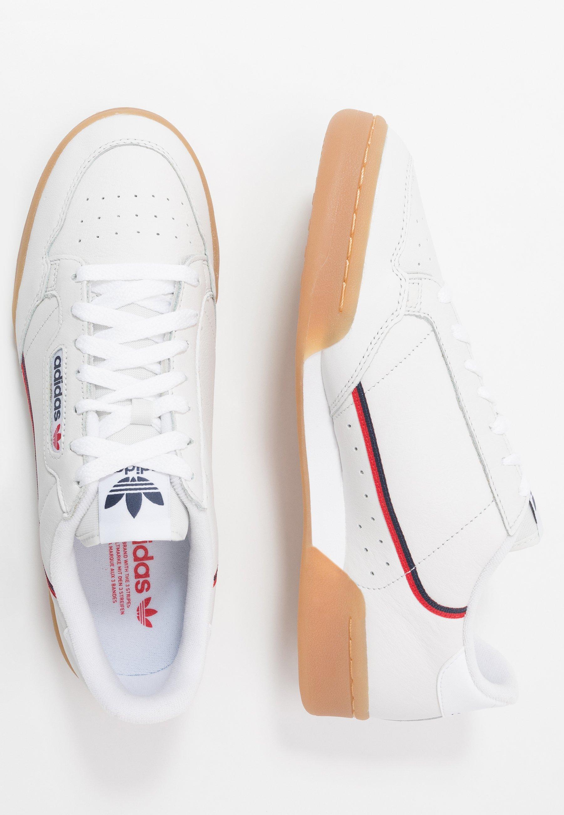 adidas Originals CONTINENTAL 80 - Joggesko - crystal white/collegiate navy/scarlet