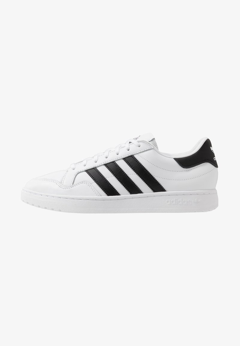 adidas Originals - TEAM COURT - Joggesko - footware white/core black