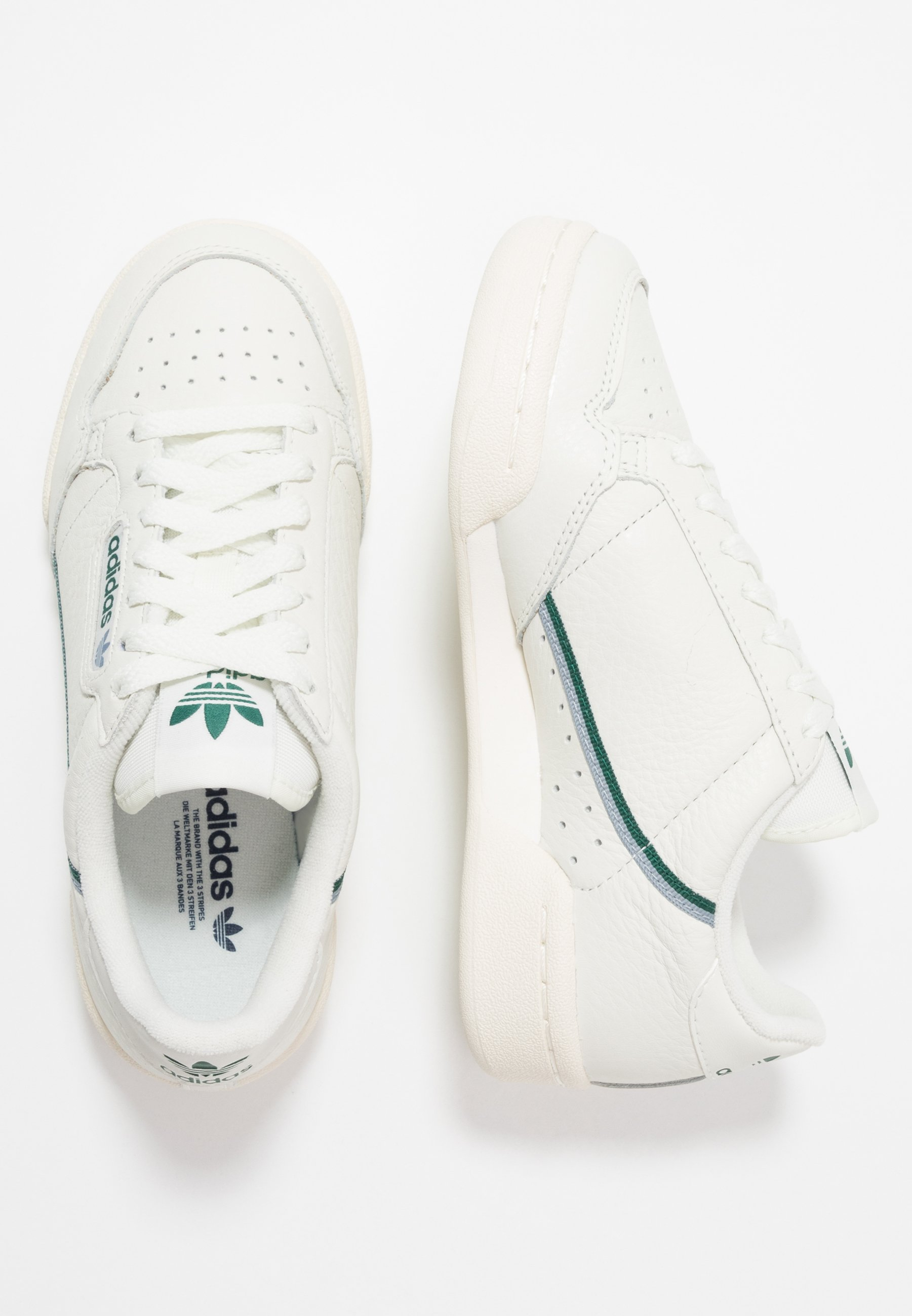 adidas Originals CONTINENTAL 80 - Sneakers basse - white tint/offwhite/collegiate green SFvRD3Xm