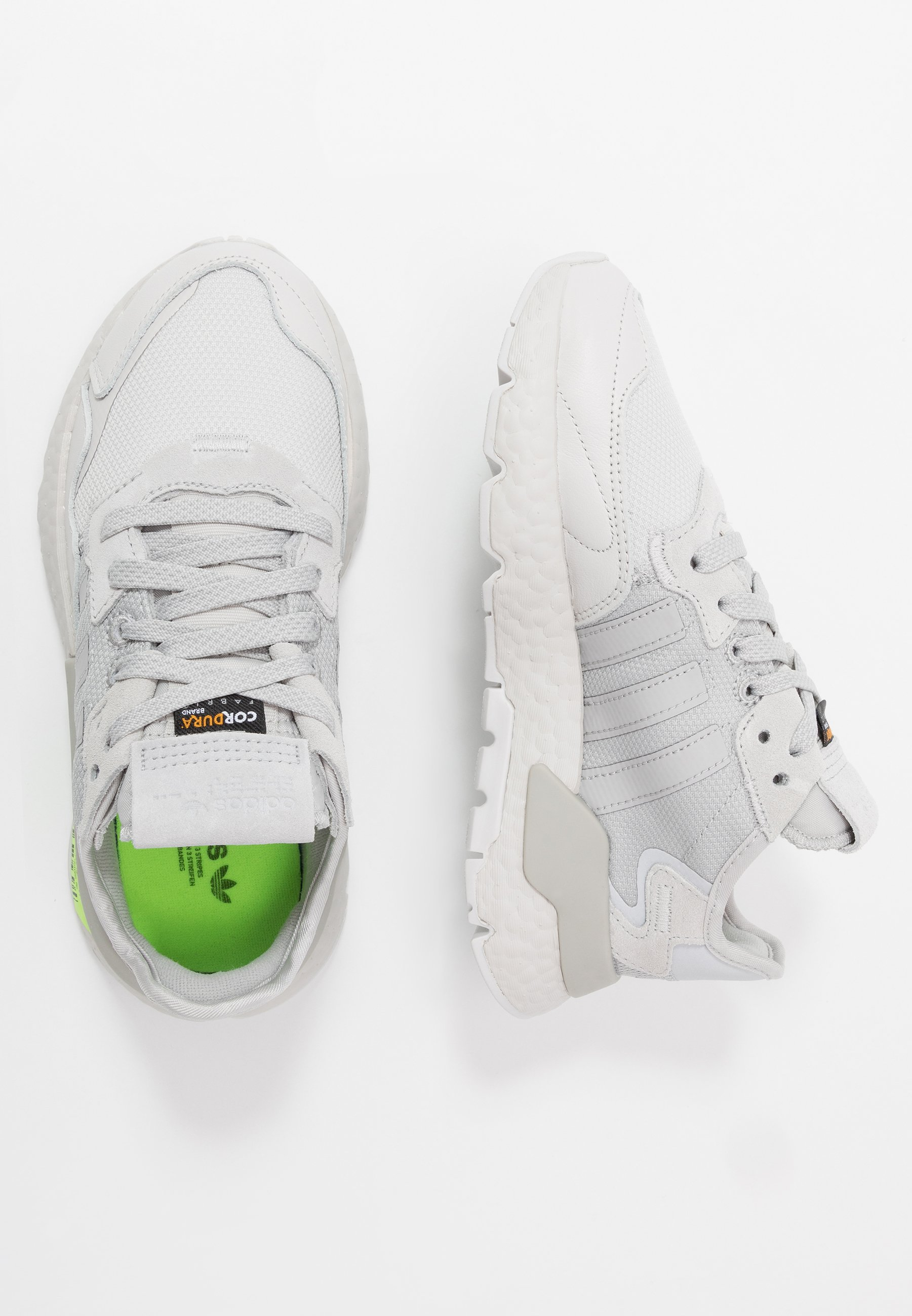 adidas Originals NITE JOGGER - Baskets basses - grey one/grey two/signal green