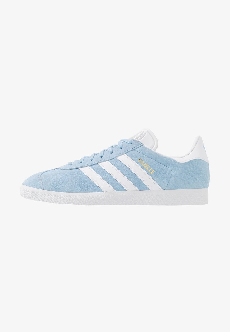 adidas Originals - GAZELLE - Matalavartiset tennarit - clear sky/footwear white/gold metallic