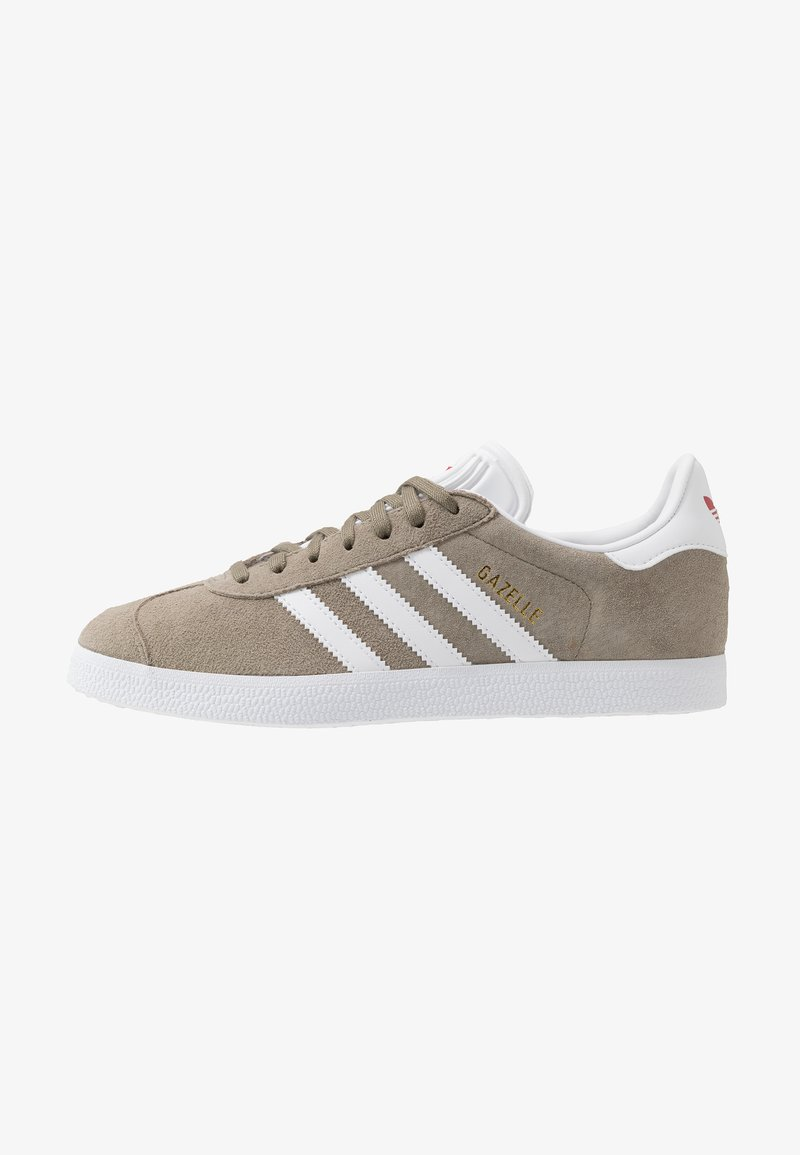 adidas Originals - GAZELLE - Sneakers basse - trace cargo/footwear white/glow red