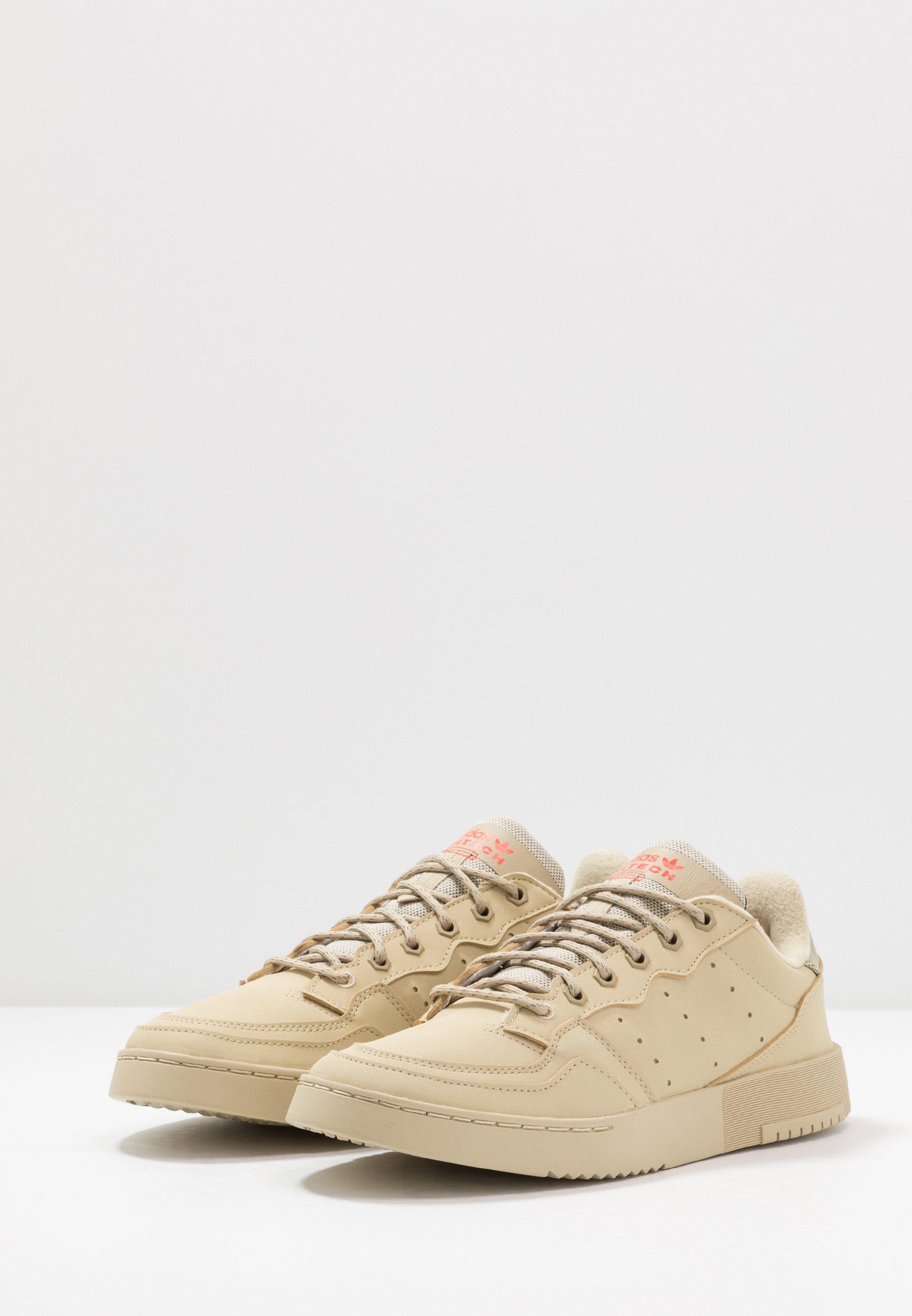 adidas Originals SUPERCOURT - Sneakers basse - savannah/solar red TRqNQovG