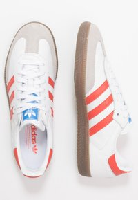 adidas Originals - SAMBA - Sneakers - footwear white/trace scarlet/clear granite - 1