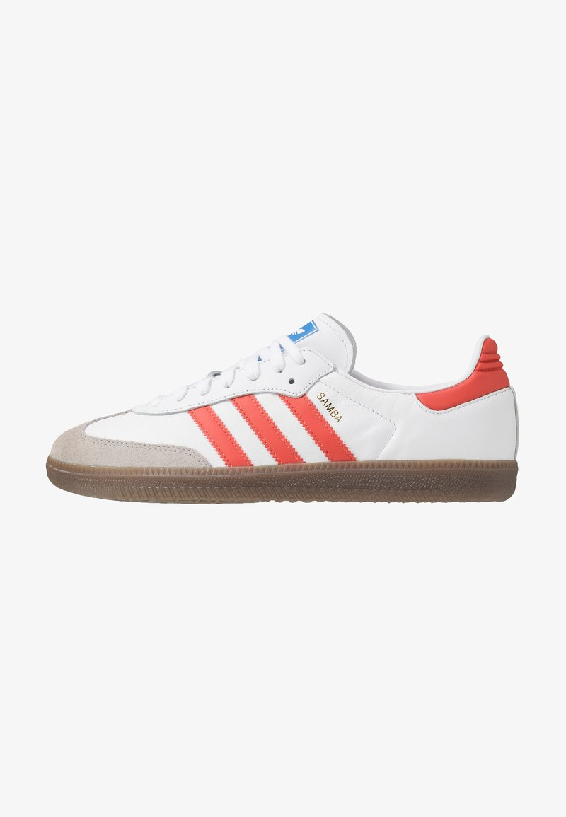 adidas Originals - SAMBA - Sneakers - footwear white/trace scarlet/clear granite