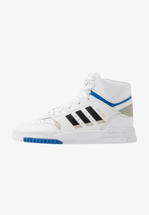DROP STEP - Trainers - footwear white/metallic grey/glow blue