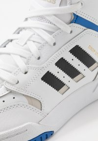adidas Originals - DROP STEP - Trainers - footwear white/metallic grey/glow blue - 5