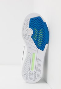 adidas Originals - DROP STEP - Sneakers - footwear white/metallic grey/glow blue