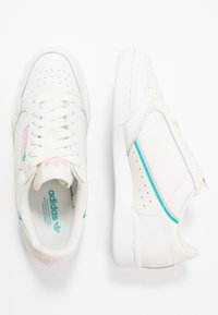 adidas Originals - CONTINENTAL 80 - Sneakers laag - offwhite/true pink/hi-res aqua - 1