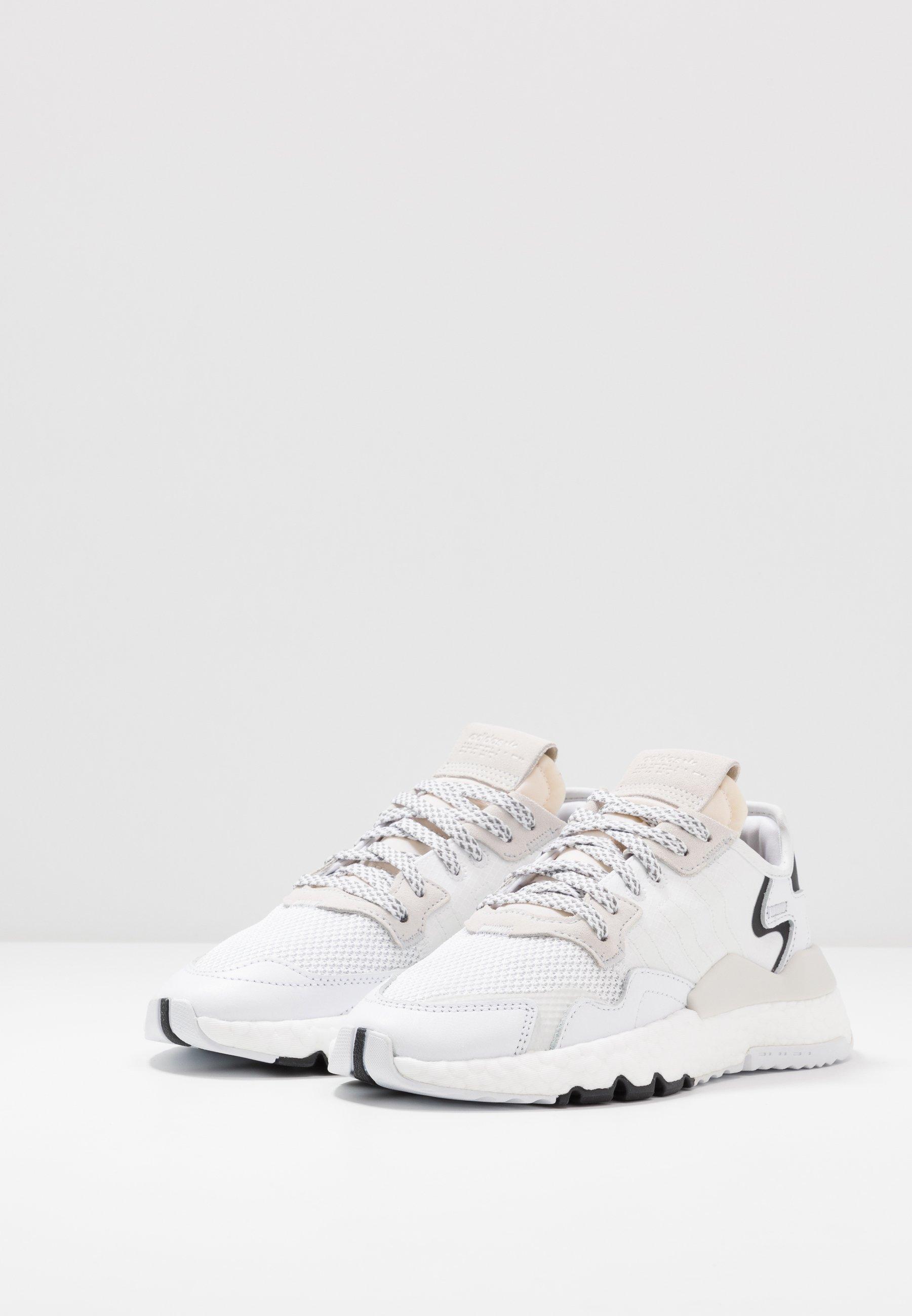 adidas Originals NITE JOGGER - Sneakers basse - footwear white/crystal white