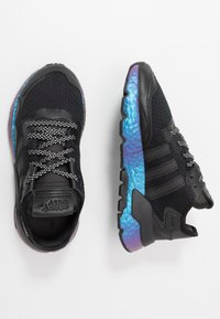 adidas Originals - NITE JOGGER - Matalavartiset tennarit - core black/carbon - 1