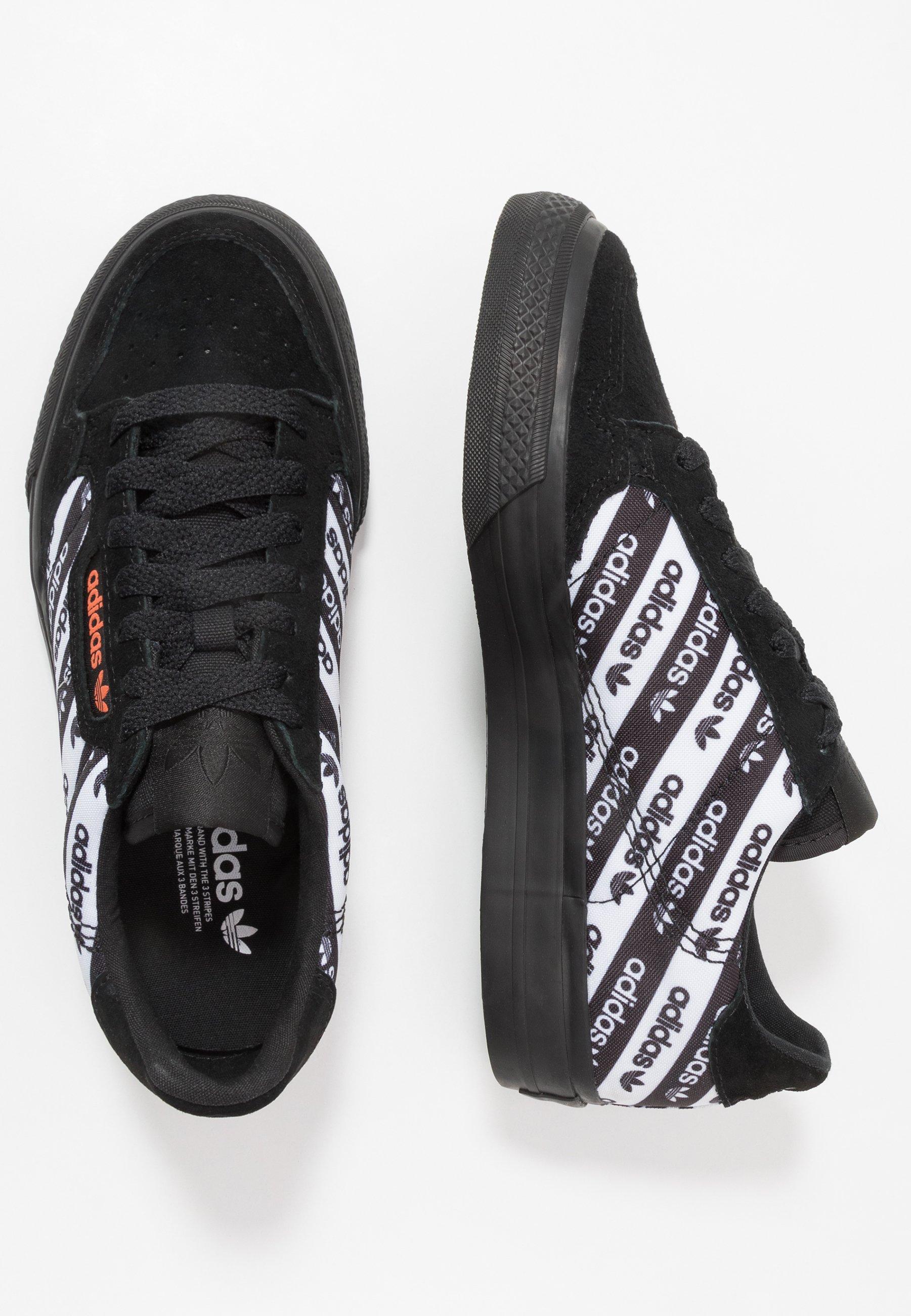 adidas Originals CONTINENTAL VULC - Baskets basses - core black/semi coral