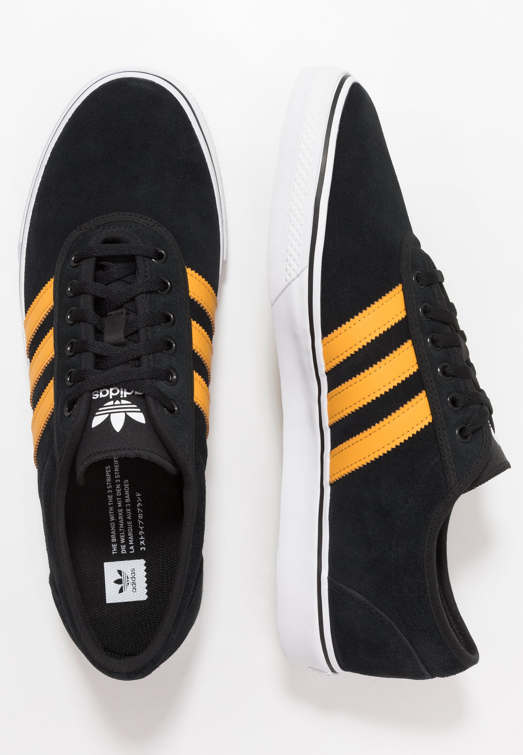 adidas Originals EASE - Baskets basses - core black/tactile yellow/footwear white
