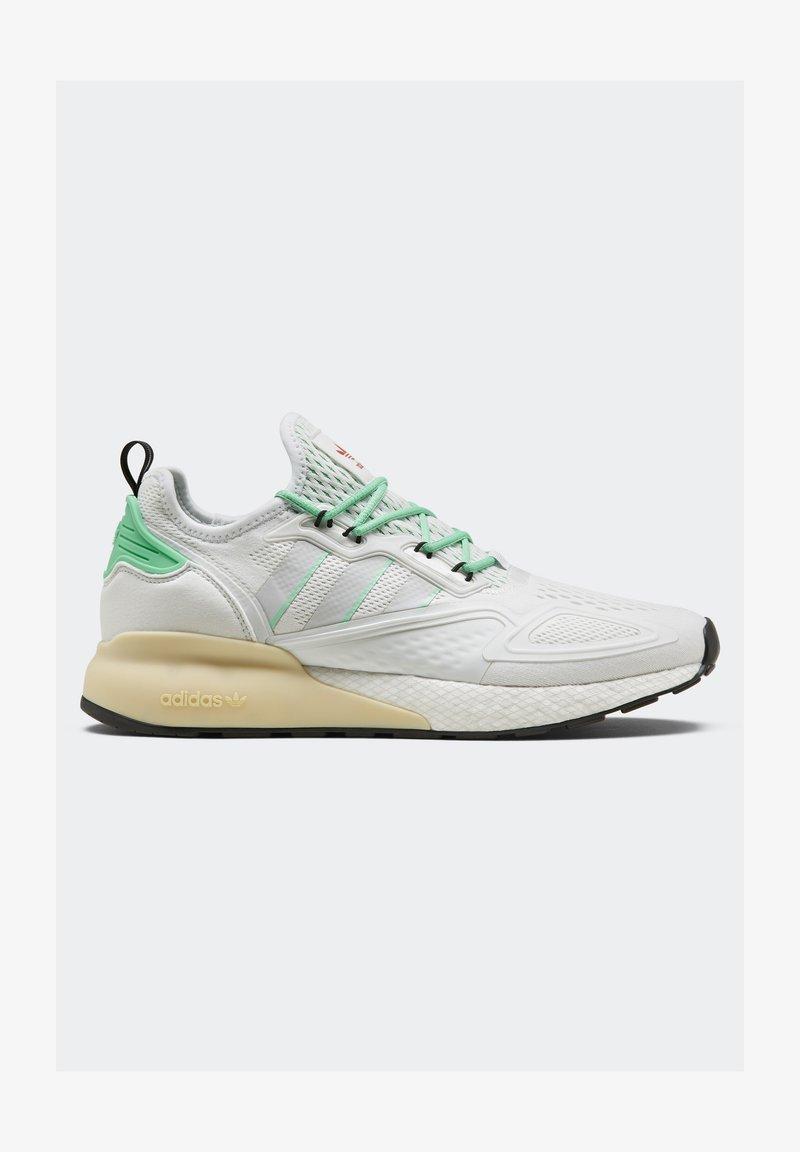adidas Originals - ZX 2K BOOST - Sneakersy niskie - white/grey/ green