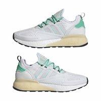 adidas Originals - ZX 2K BOOST - Sneakersy niskie - white/grey/ green - 11
