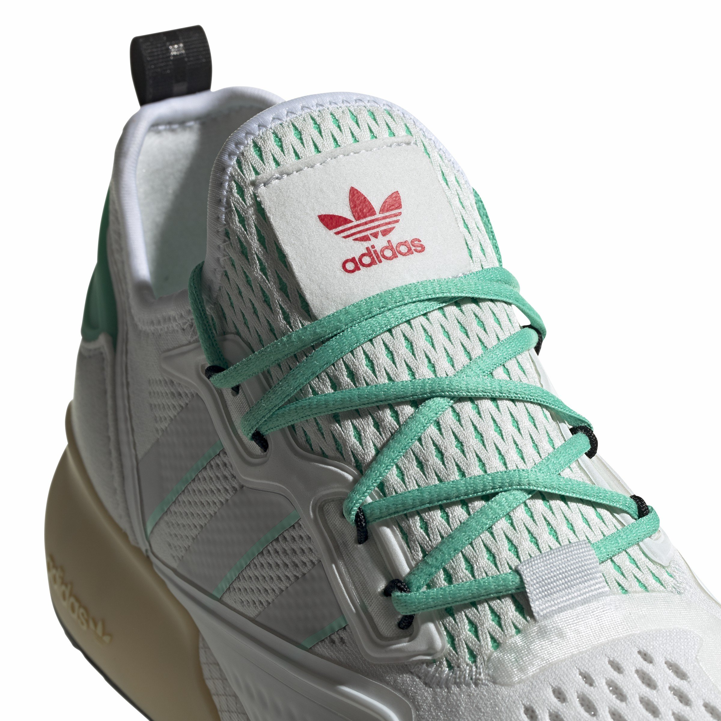 Adidas Originals Zx 2k Boost - Sneakers Basse White/grey/ Green 40arA