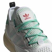 adidas Originals - ZX 2K BOOST - Sneakersy niskie - white/grey/ green - 6