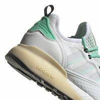 adidas Originals - ZX 2K BOOST - Sneakersy niskie - white/grey/ green - 8