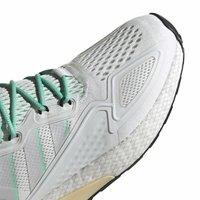 adidas Originals - ZX 2K BOOST - Sneakersy niskie - white/grey/ green - 7